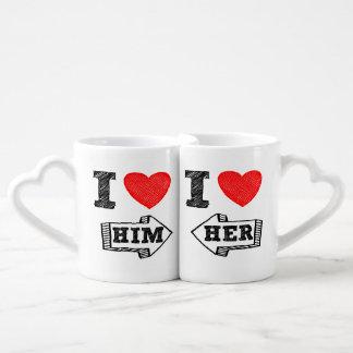 ♥ de la tasse I de l'amant LUI et ♥ d'I que son