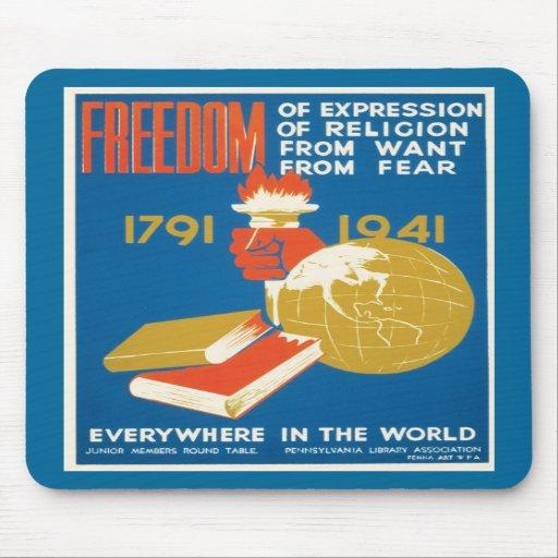 ~ de liberté partout dans le monde tapis de souris