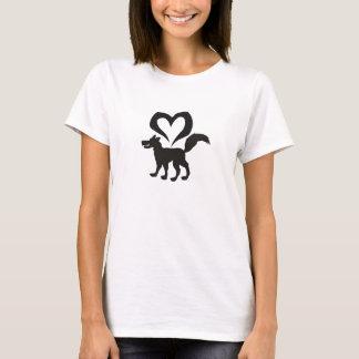 ♥ de loup de ♥ t-shirt