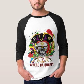 De mardi gras d'habillement de pirate d'avant de t-shirt