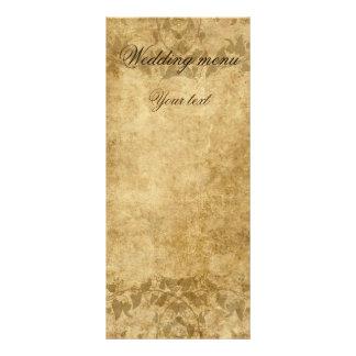 De mariage de parchemin menu vintage il était une cartons d'informations  10 cm x 22,9 cm