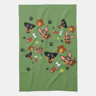 De minute de Pin serviette de Pinscher miniature