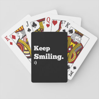 De motivation continuez le sourire jeu de cartes