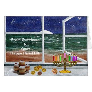 De notre maison au vôtre….Hanoukka heureux Carte De Vœux