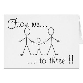 De nous à trois ! ! cartes
