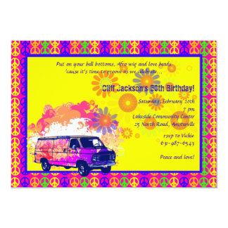 De nouveau à l'invitation des années 60 carton d'invitation  12,7 cm x 17,78 cm