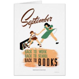 De nouveau au travail d'école WPA 1940 Cartes