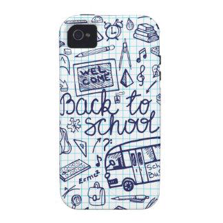 De nouveau aux fournitures scolaires Décor peu Coque Vibe iPhone 4