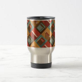 De nouveau aux outils d'école (style de hippie) mug de voyage