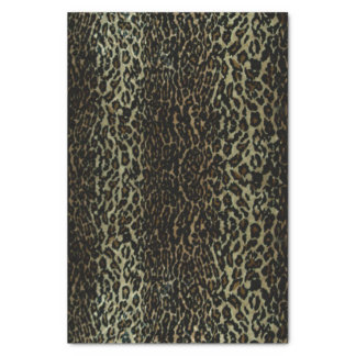  de papier de soie de soie d'empreinte de léopard