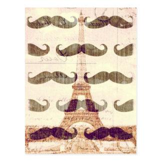 De Paris avec la moustache Carte Postale