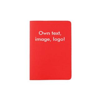 De passeport de support rouge uni protège-passeports