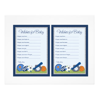 De petites notes mignonnes bébé de joueur de prospectus 21,6 cm x 24,94 cm
