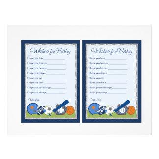 De petites notes mignonnes bébé de joueur de sport prospectus 21,6 cm x 24,94 cm
