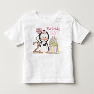 De pingouin de Cutie- de fille anniversaire en T-shirts