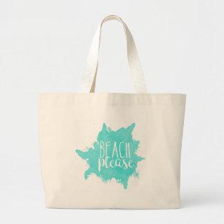 De plage blanc svp grand sac