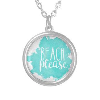 De plage blanc svp pendentif rond