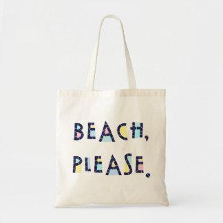 De plage typographie lunatique d'été svp mignonne sac