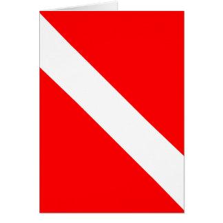 De plongeur drapeau classique vers le bas carte de vœux