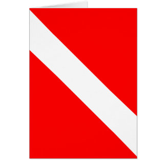 De plongeur drapeau classique vers le bas cartes