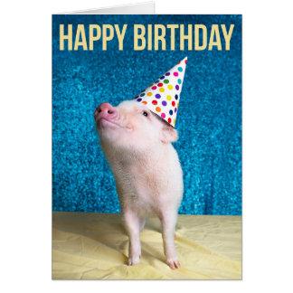 De porc carte d'anniversaire