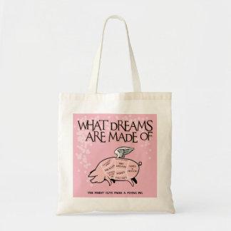 De quels rêves sont faits - des coupes de porc de tote bag