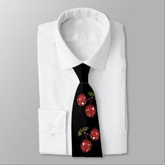 De RAB de rockabilly cerises de cerise très sur le Cravate