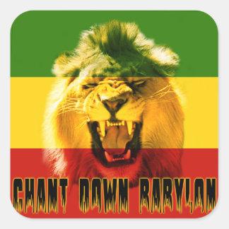 De Rasta de chant autocollant de lion de Babylone