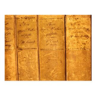 De retour de vieux livres de la science carte postale