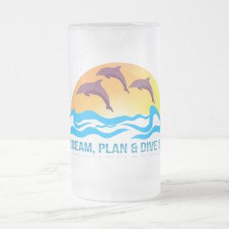 © de rêve, de plan et de piqué tasse en verre