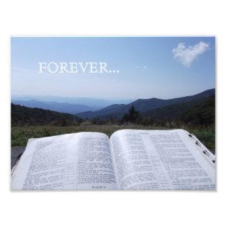 De Ridge bleu de montagne d'écriture sainte photo