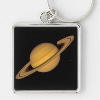 ~ de SATURN v.1 (système solaire) Porte-clé Carré Argenté