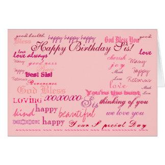 """De """"SIS joyeux anniversaire !"""" carte"""