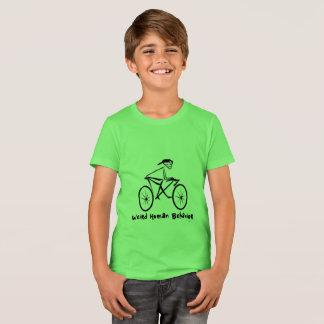 De T-shirt étrange d'équipage d'enfants de