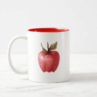 de tasse étrange de dessin de pomme