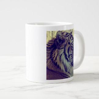De tigre de visage cru spécial d'effet de la mug jumbo