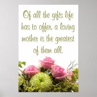 De tous les cadeaux une mère affectueuse… poster