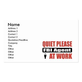 De tranquillité agent du FBI svp au travail Carte De Visite Standard