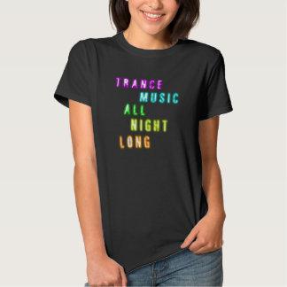 de transe de musique T-shirt toute la nuit blured