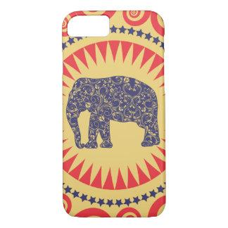De très bon goût de Vinatge d'éléphant de damassé Coque iPhone 7