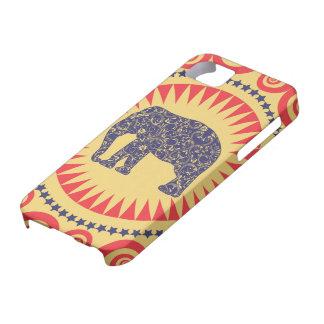 De très bon goût de Vinatge d'éléphant de damassé Étui iPhone 5