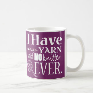 ♥ de tricot pas assez de métiers de fil mug