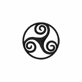 (de Triskele) polo brodé par Celtic en spirale tri