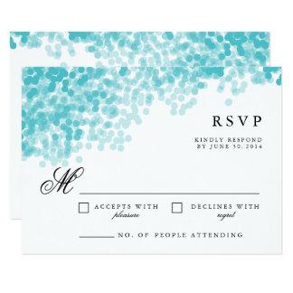 De turquoise jolie RSVP carte de réponse de la