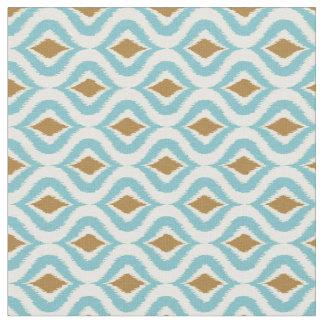 De turquoise rétro Ikat motif chic turquoise de Tissu
