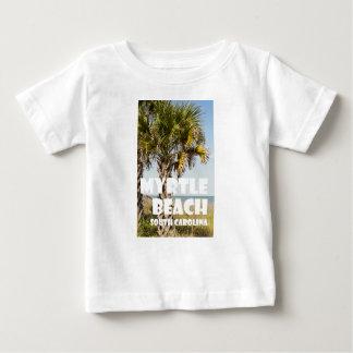 ` de vacances de palmier de Myrtle Beach la T-shirt Pour Bébé