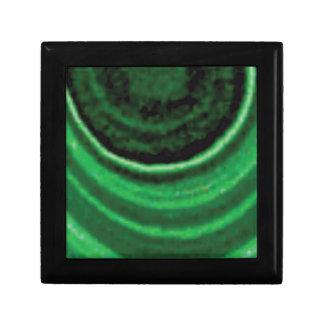 de vert art de cercle semi boîte à souvenirs