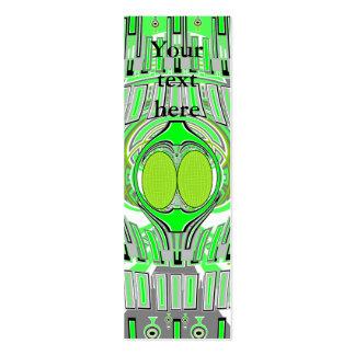 De vert conception au néon superfly carte de visite petit format