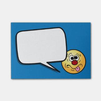 De visage souriant étrange Grumpey Post-it®