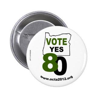 De vote mesure 80 de l'Orégon oui Pin's